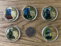 NED KELLY COLLECTORS 1 Oz 24K 999 GOLD PLATED COINS - SET OF 5 TOP QUALITY COINS