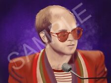 Elton John Painting 10x8 (ROCKETMAN)