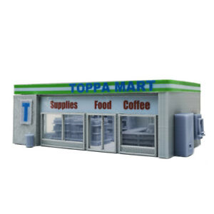 Outland Models Railway Scenery Convenience Store & Accessories1:87 HO Gauge
