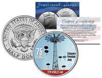 1939 New York World's Fair LIFE SAVERS PARACHUTE JUMP JFK Half Dollar Coin w/COA