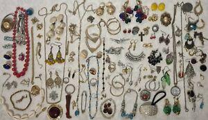 Large Joblot of costume jewellery, Bracelets, Necklaces, Ear rings. Bundle B4