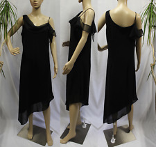 2795 Another Thyme Women 12 Shift Dress Sleeveless Chiffon Party Cocktail Hi Low