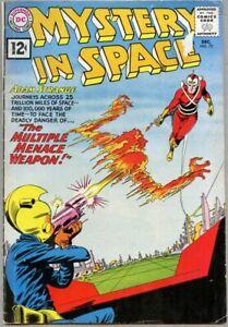 Mystery In Space #72-1961 fn- 5.5 Adam Strange Carmine Infantino DC