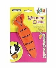 Ancol Pet Products Just 4 Pets Wooden Chew Carrot Cruncher X 6
