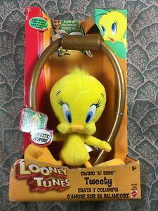 Looney Tunes - Tweety Bird - Swing N Sing - Mattel Plush Talking Doll