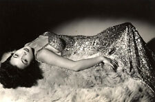 George Hurrell 8x10 Stamped Photograph of Beautiful Young Woman on Bearskin Rug