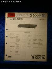 Sony Service Manual ST SE500 Tuner (#0605)