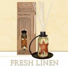 Fresh Linen Fragrance Scented Reed Diffuser Crossroads Original Designs New NIP