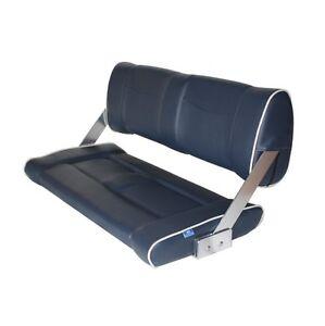 184190-5013;  Sitzbank für Boot, MI-ST90 FLIP BACK blau mit weißen Nähten