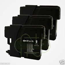 3 Black Ink for LC 61 LC-61 LC61BK LC61 Ink Cartridge