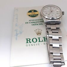 Rolex Date 34 mm Steel Automatic Oyster Watch 1500 With Warranty Papers 1975