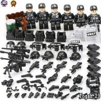 Custom SET Military minifigure Blocks Swat Police Army Team Toys For police City