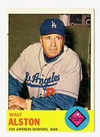 1963 Topps #154 Walter Alston Los Angeles Dodgers Baseball Card