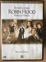 Robin Hood: Prince Of Thieves DVD 1991 Extendido Versión Edición Especial 2-Disc