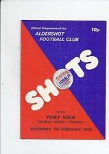 Port Vale Away Team Third Division Football Programmes