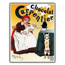 Chocolat carpentier métal signe plaque murale rétro vintage publicité bar décor imprimé