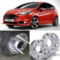 2pcs 4X100 60.1CB 25mm Hubcenteric Wheel Spacer Adapters For Ford Fiesta 2004-18