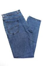 Domenico Vacca мужские повседневные джинсы прямого покроя Штаны синие хлопок размер 58