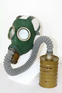Cold war CCCP Soviet Russian military gas mask GP4 Green rubber elephant S3 1957