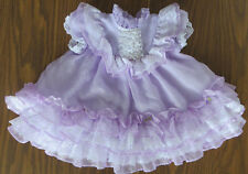 Vintage Sheer Lavender Dotted Ruffles/Lace Baby/Toddler Dress