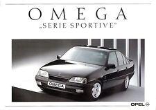 Prospetto/brochure OPEL OMEGA SERIE SPORTIVE 04/1990