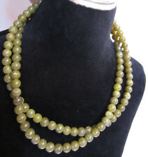 Green Gem Beads Round smooth Speckle 14.5 inches each 2 strands jewelry making