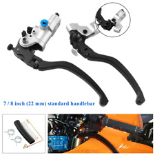 "Pair CNC Hydraulic Brake Clutch Pump Kit Reservoir Lever For 22MM 7/8"" Handlebar"