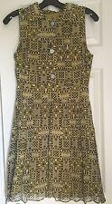 Jack Rogers Geometric Abstract Silk  Chiffon Printed Dress EUC 6 Piperlime