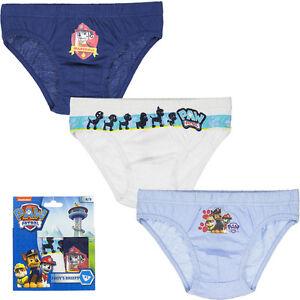 Paw Patrol Underwear Boys Briefs Knickers 3 Piece 92-98 104-110 116-122 #37