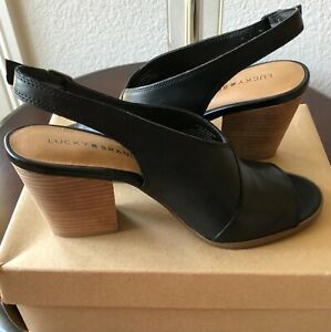 LUCKY BRAND Ovrandie Shoes, Sandals, Sling back, Open toes, Black  SZ 9M