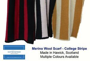 Pure Merino wool Scarf - 2 Colour Stripe - Made in Scotland