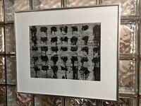 AARON SISKIND Chicago 42 1952 vtg ORIGINAL abstract Silver Gelatin photo print!