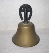 Vintage Metal Bell Iron Horshoe Wall Hanging 6.5 x 5.5�