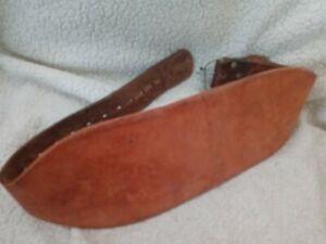 Genuine ALTUS Athletic Heavy Leather Weight Lifting Belt Size 27-38