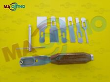 Chisel osteotome blade set Bone surgery Veterinary orthopedic Instruments