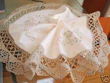 Delicate Hand Bobbin Lace Embroidery Cotton Doily 40cm