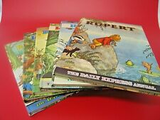 SET OF 6 RUPERT DAILY EXPRESS ANNUALS FROM 1969 TO 1974 - (EPP)