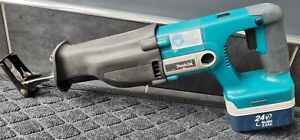 MAKITA BJR240 24v CORDLESS 2 SPEED QUICK RELEASE RECIPROCATING SAW AND BATTERY