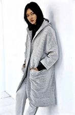 NWT Urban Outfitters gray Oversized Hooded Nubby Duster Filled Lining Coat M