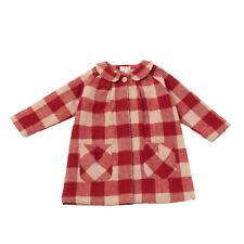 RRP €155 BONNET A POMPON. Coat Size 4Y Wool Blend Gingham Made in Portugal