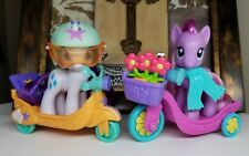 My Little Pony G4 ~Rarity & Daisy Dreams~ Pony Scooter Friends & Accessories Lot