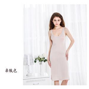 Women's 50% Silk Full Slip Sleepwear Nightdress Chemise Nightgown SG322