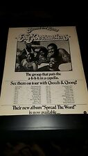 The Persuasions Rare Original Cheech And Chong Tour Promo Poster Ad Framed!
