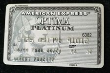 American Express Optima Platinum Credit Card exp 02♡Free Shipping♡cc183