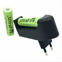 2X 18650 Battery 8800mAh 3.7V Li-ion Rechargeable Batteries with 4.2V EU Charger