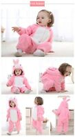 Pink Rabbit Romper Infant Baby Boy Girl Jumpsuit Hooded Toddler Baby Clothes