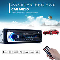 Car Stereo Bluetooth In Dash DVD Player USB Aux FM Radio MP3 Player SD card