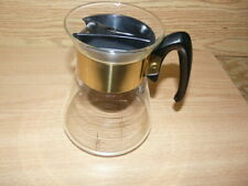 Vintage Retro Glass Coffee Pot Gold Starburst 2+4 Cup- As show !