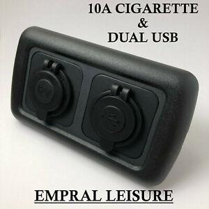 12v CBE C-Line Double Dual USB Socket For Campervan Caravan 12v Cigarette Socket