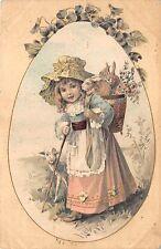 BC62020 Easter Pasques Filette Enfant Rabbit Children  ostern germany